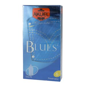 AKUEL BLUES preservativi 6 pz