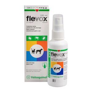 Flevox 2.5 mg/ml Fipronil Spray cutaneo, soluzione per gatti e cani 100 ml